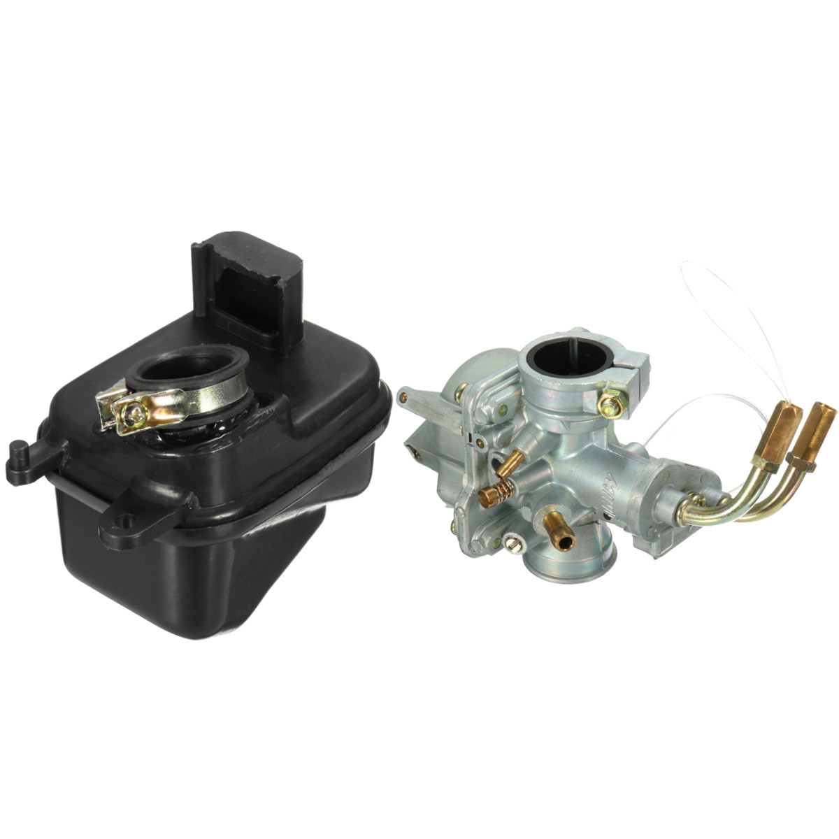 1 Set Motorcycle Carb Carburetor with Air Filter Box Set For Yamaha PEEWEE PW50 PY50 Replace Black Silver1 Set Motorcycle Carb Carburetor with Air Filter Box Set For Yamaha PEEWEE PW50 PY50 Replace Black Silver