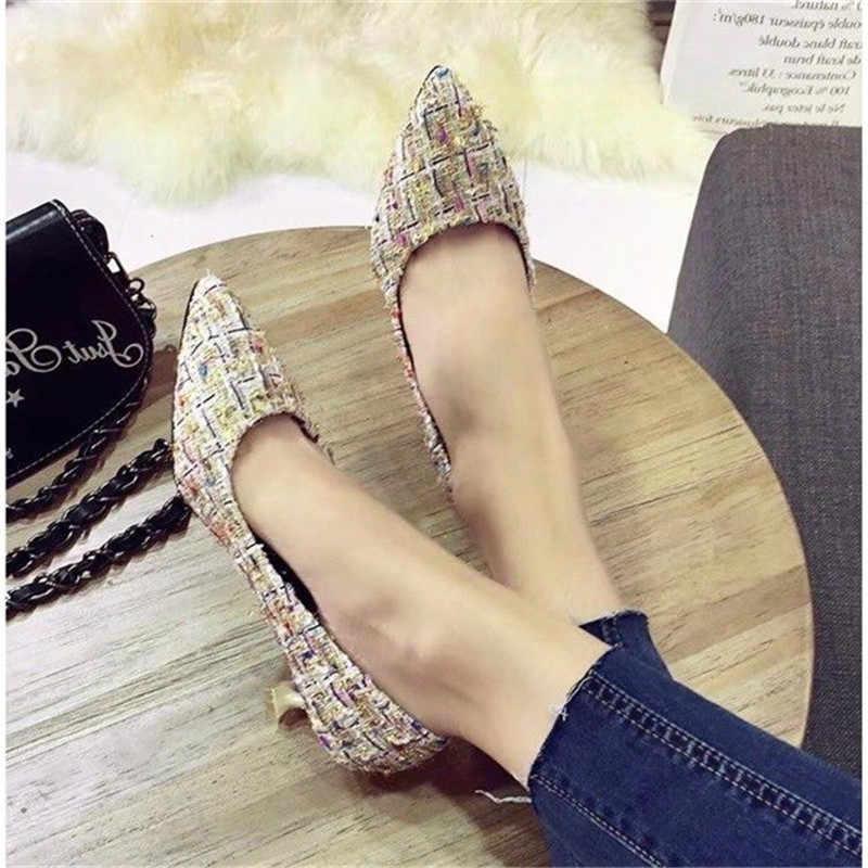 Kadın Pompaları Stilettos Orta Topuklu Kadın Ofis Ayakkabı Avrupa Amerikan Tarzı 2019 Lüks Sivri Sığ Bayanlar Pompa Ayakkabı