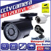 8.28 Большая распродажа! CMOS 1200TVL HD Mini CCTV Камера открытый Водонепроницаемый 24Led Ночное видение небольшой видео мониторинга безопасности видикона