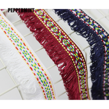1yard 3.5cm Fringe Lace Trim Embroidery Tassel Fringe Ethnic Trim Ribbon Sewing Latin Dress Stage Garment Curtain Decorative недорого