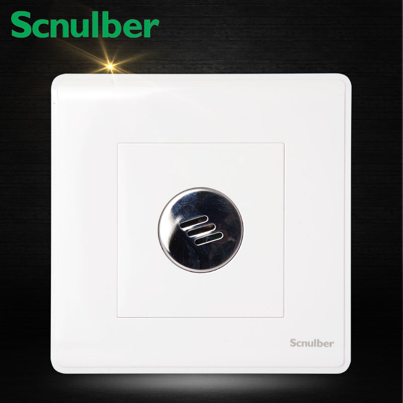 free shipping surface type 86mm landing bathroom wall acoustic light activated delay switch