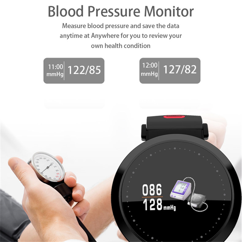 OGEDA Smart Men Watch Color Screen Heart Rate Blood Pressure Monitor Activity Fitness Tracking Smart Clock Bluetooth Wristband цены онлайн