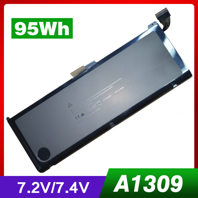 7.4V 95Wh Laptop Battery A1309 For Apple MacBook Pro 17 A1297(2009 Version) MC226 lmdtk new laptop battery for apple macbookpro 15 a1286 2009 version mb985 mb986 replace a1321