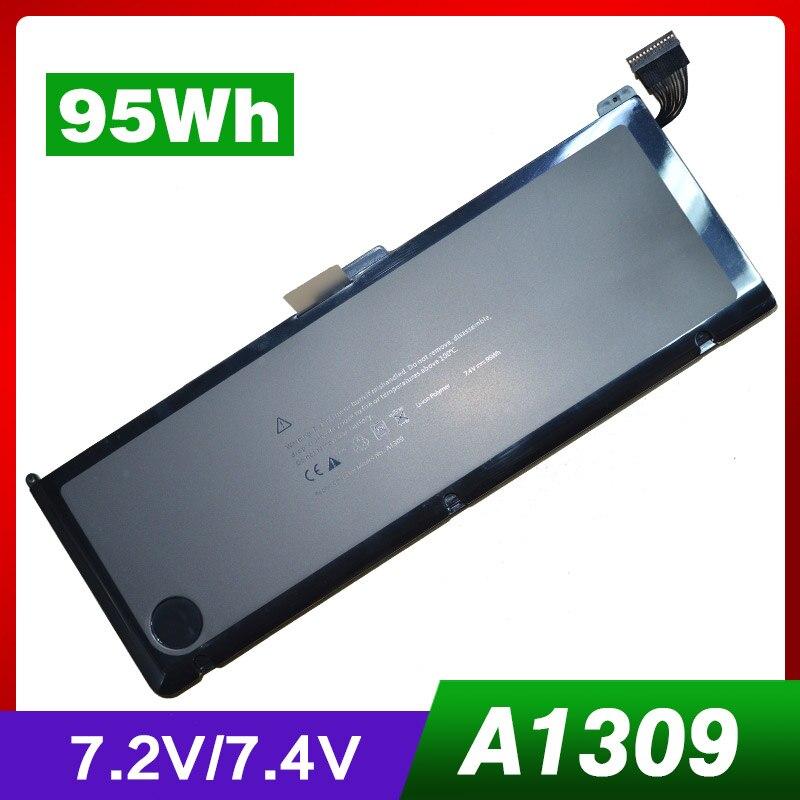 Batterie dordinateur portable 7.4 V 95Wh A1309 pour Apple MacBook Pro 17 A1297 (Version 2009) MC226 MC226ZP/A MC226TA/A MC226LL/A MC226J/ABatterie dordinateur portable 7.4 V 95Wh A1309 pour Apple MacBook Pro 17 A1297 (Version 2009) MC226 MC226ZP/A MC226TA/A MC226LL/A MC226J/A