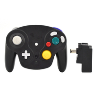 2 4GHz Wireless Controller Gamepad For GameCube For GC Black