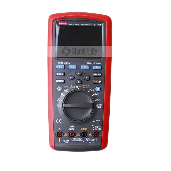 True RMS регистрация данных цифровой мультиметр UNI-T UT181A DMM емкость Температура метр ж/re-платной диагностический инструмент