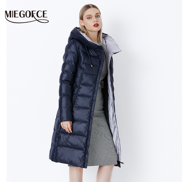 MIEGOFCE 2018 Coat Jacket Women's Hooded Warm Parkas Bio Fluff Parka Coat Hight Quality Female New Winter Collection Hot