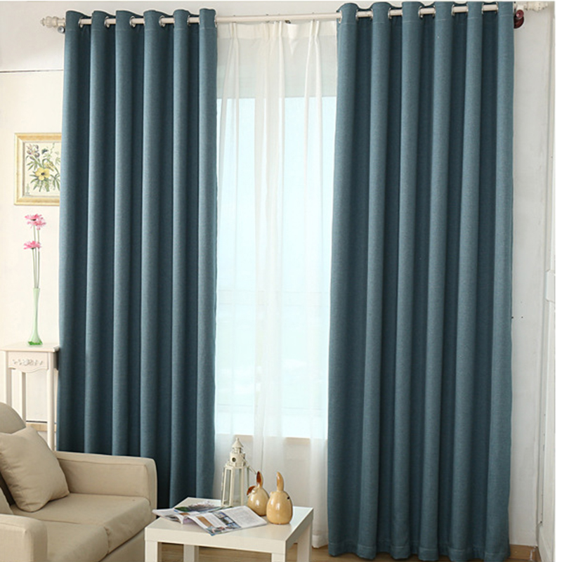 Solid Colors Faux Linen Curtains For Living Room And Bedroom Window Blinds Luxury Room Blackout