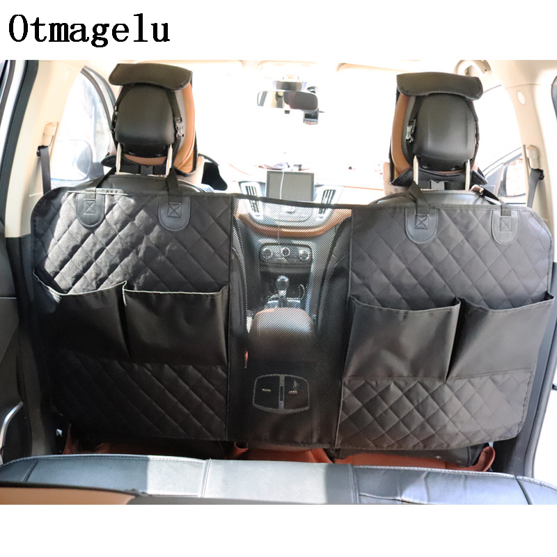 Pet Car Seat Isolation Pad Covers For Big Dogs Separate Cab Car Interior Travel Accessories Dog Carriers Mat With Storage Bag