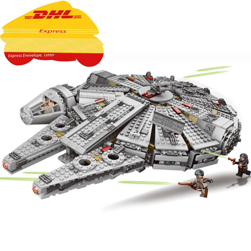 LELE 79211 Star Wars Millennium Falcon Outer Space Space Ship Building Blocks Model Toys For Children action figure 05007