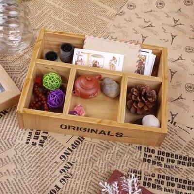 2019 Zakka style plateau en bois faire l'ancienne boîte de rangement d'épicerie plateau décoratif créatif