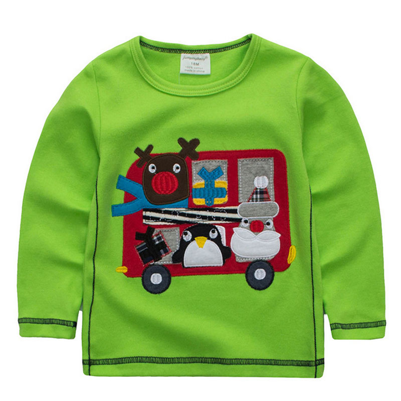 2017 Kids Clothes Children Boys Spring Cotton T-shirts Jumpingbaby Long Sleeve Tees Clothing Tops T-shirt Costumes For Baby
