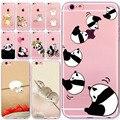 Lovely New Year Cat Soft Phone Cover Case For iPhone 6 6S 7 5 5S SE 7plus 6Plus 6SPlus 4S Present Hamster Panda Animal Celular