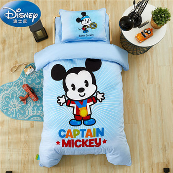 Conjunto de cama acolchado Disney Mickey Frozen, juego de edredón de 6 uds. Incluye edredón, almohada, colchón, edredón, funda, Sábana de 60x 120cm