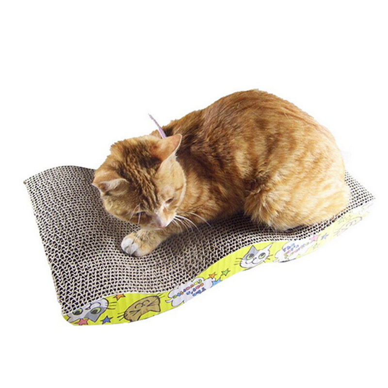 Pet Scratch Board S-shapped Cat Scratch Board Scratching Posts Kitten Corrugated Scratch Pad Claw Pad Cat Toy