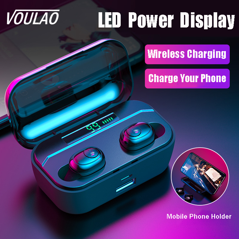 VOULAO Bluetooth Earphone G6s TWS Wireless Headphone With 3500mAh Power Bank Bluetooth V5.0 LED Display Headset IPX7 Waterproof(China)