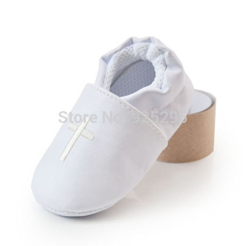 Unisex Toddler Baby Shoes Cross Baptism Shoes Church Soft Sole Leather Kids  Shoes Multan