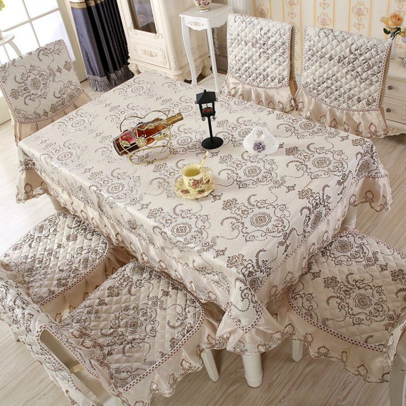 2017 European Tablecloth 130 180 Embroidery Pattern Rectangular Home Living Room TableChina