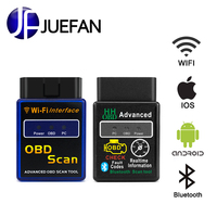 new Wi Fi +bluetooth obd 2 CAN bus interface ELM 327 OBD2 Scanner Support Android / IOS / PC system Diagnostic Tool