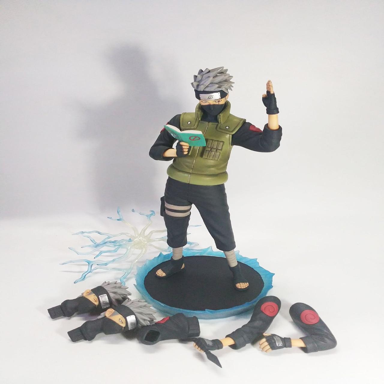 ФОТО Naruto Kakashi Hatake Action Figure Sharingan Ver. Kakashi Doll PVC Action Figure Collectible Model Toy 30cm KT3510