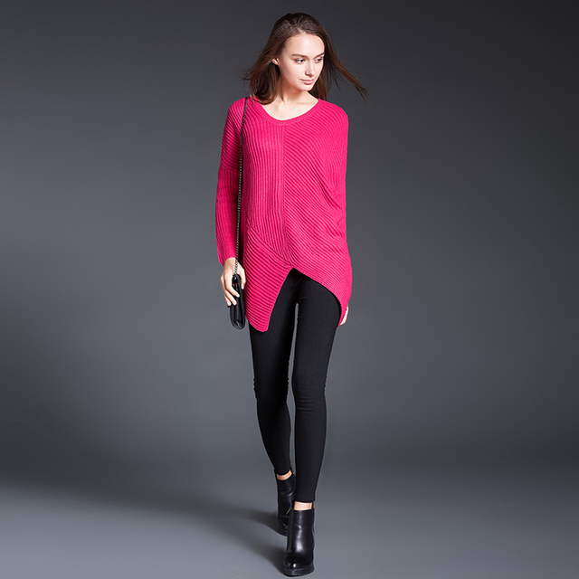 539a28fe9f6 Plus Size Sweater 2017 New Autumn With Batwing Sleeve Women Sweaters And  Pullovers Red Sweater Sexy Wool Woman