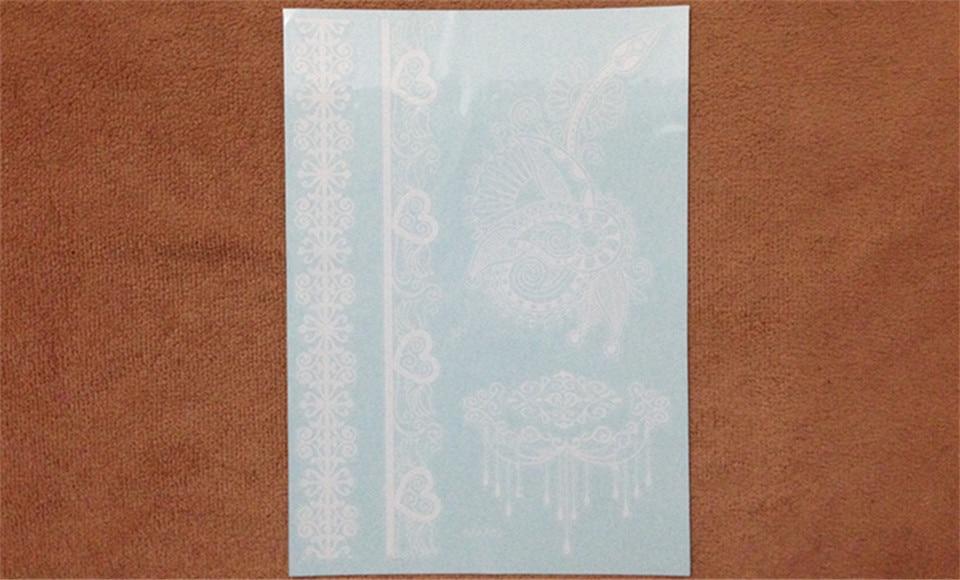 1шт White Tattoo Lace Flower Су өткізбейтін - Тату және дене өнері - фото 4