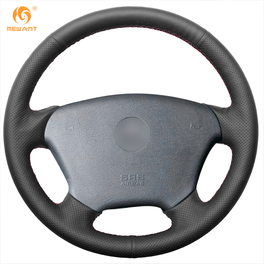 MEWANT Black Genuine Leather Car Steering Wheel Cover for Mercedes Benz W163 new power steering pump for mercedes benz w163 ml320 ml350 ml430 ml500 ml55