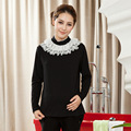 New Autumn and Winter  Maternity Blouses and Tops Pregnancy Clothes Turtleneck Blouse for Pregnant Women  Lace Tops
