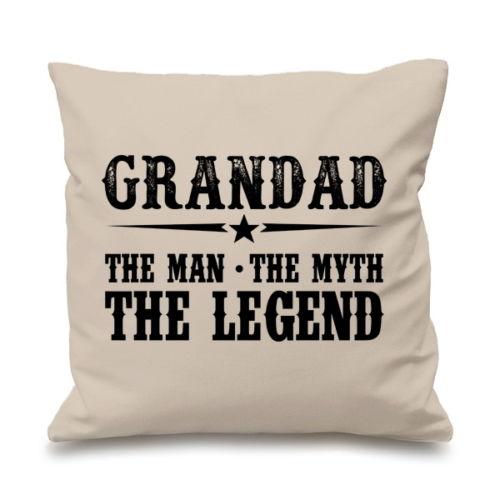 "Hot Grandpa Gift Grandad Cushion Cover Quote Grandad The Man The Myth The Legend Throw Pillow Case Grandfather Two Sides 18""x18""-in Cushion Cover from Home ..."