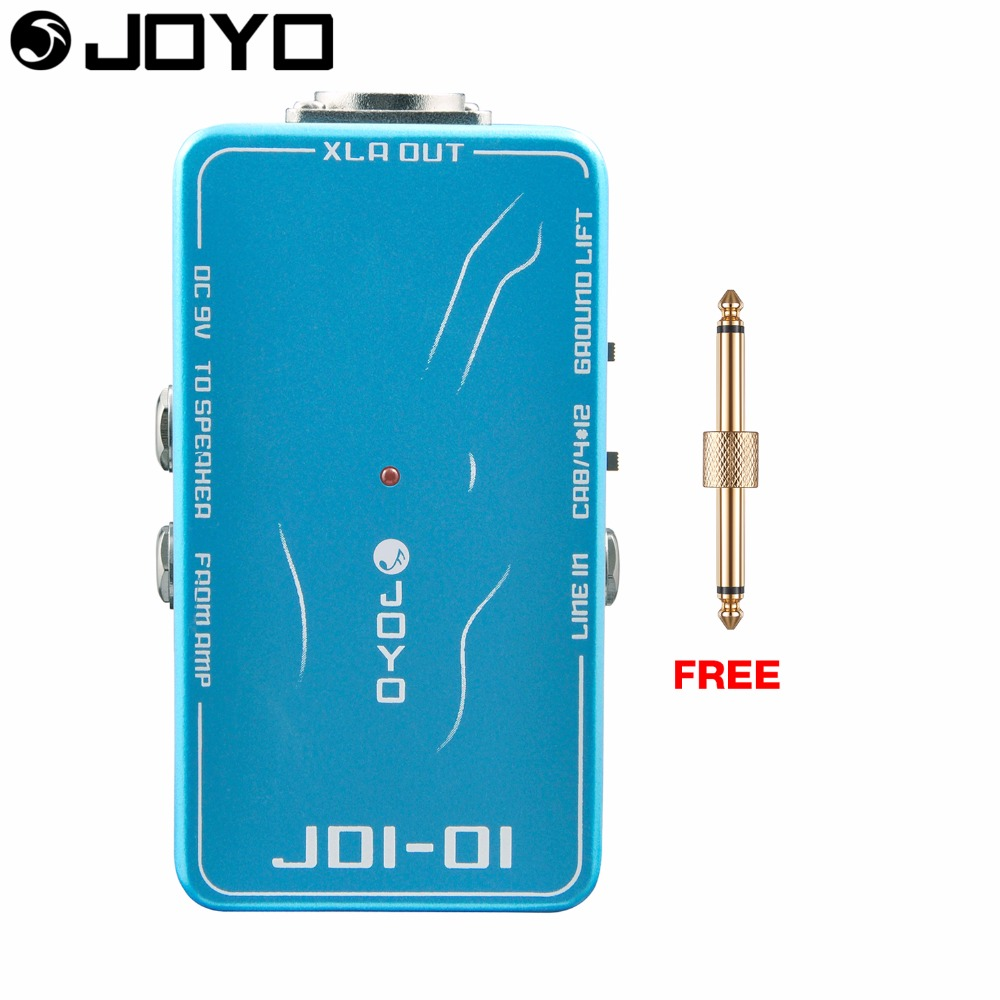 JOYO DI Box Electric Guitar Effect Pedal True Bypass Ground Lift Switch JDI 01 with Free Connector aroma adr 3 dumbler amp simulator guitar effect pedal mini single pedals with true bypass aluminium alloy guitar accessories