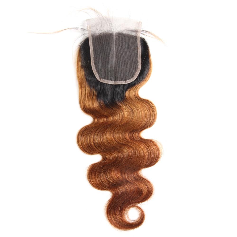 Megalook 1B/30 Peruvian Body Wave Hair Bundles with Closure Remy Ombre Bundles with Closure
