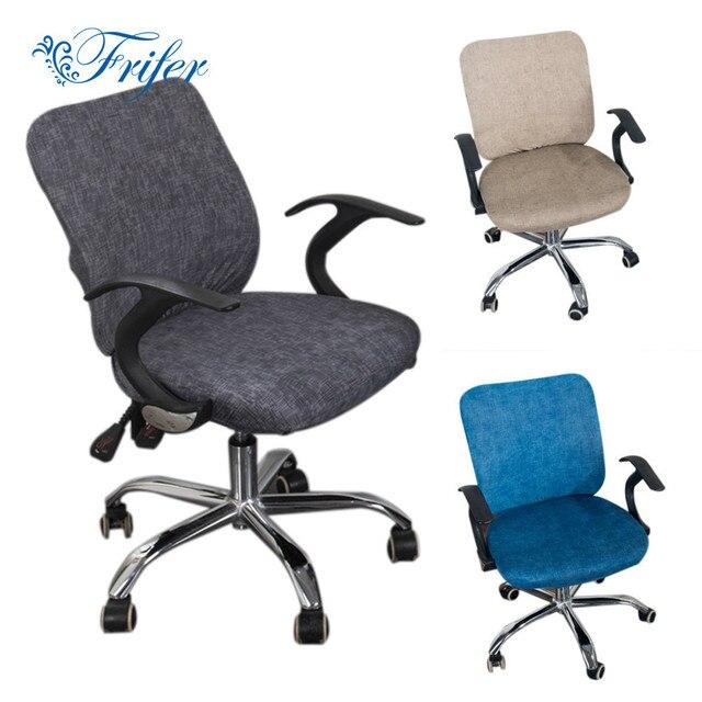 Офисная накидка на стул из спандекса компьютерный чехол для кресла с цветочным принтом Съемный вращающийся чехлы на стул эластичный Чехол для мебели