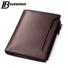 Bostanten 2017 Cheap Designer Men Wallets Coin Zipper Pocket fashion Short Design Men's Wallet Male Real Genuine Leather Wallet