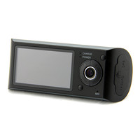 Car DVR Dual Camera Lens w/ GPS Tracker Driving Track, Speed, Time & Date