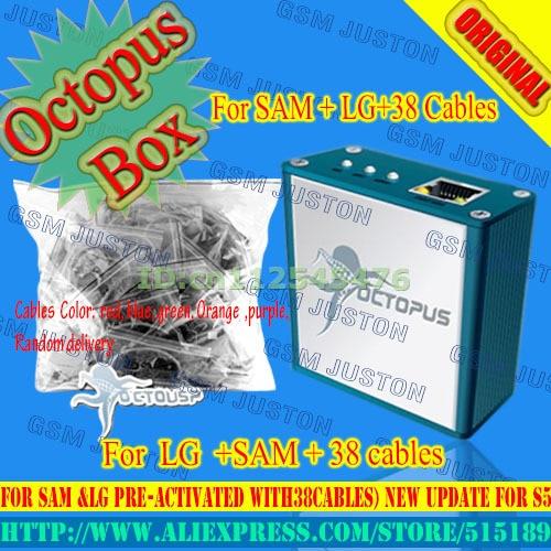 100% original mais recente venda quente caixa de polvo para lg + samsung edition com 38 cabos frete grátis