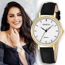 Стильные часы женские модные повседневные кожаные из нержавеющей стали Спорт аналоговый Кварцевые женские наручные часы Часы relogio feminino A60
