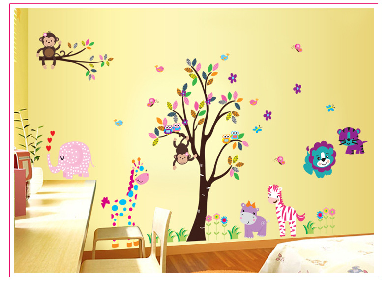 owl family tree wall decal for kids rooms home decoration wall art ...