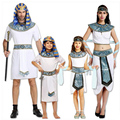 children adult Egypt pharaoh cosplay white costume Egyptian Cleopatra Queen party prince princess Empress dress costume