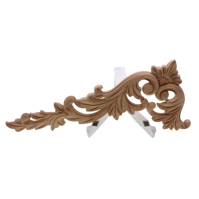 RUNBAZEF Floral Wood Carved Corner Applique Wooden Carving Decal  Furniture Cabinet Door Frame Wall Home Decoration Accessories 3