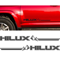 2PC Free Shipping Hilux Racing Side Stripe Graphic Vinyl Sticker For TOYOTA HILUX Decals