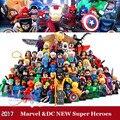 DC Marvel Super Heroes Figuras de Ação Blocos de Construção Compatíveis Com Legoes Batman Deadpool Hulk Homem De Ferro