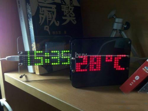 51 microcomputador eletrônico DIY DS3231 relógio digital LED de Alarme de temperatura