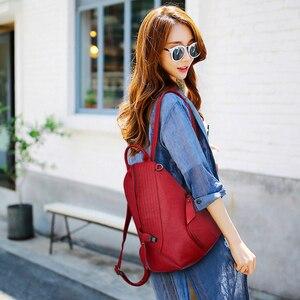 Image 3 - 2019 Designer Backpacks Brand Travel Shoulder Bag Female Backpack For Girls Sac a Dos Vintage Bagpack Ladies Mochilas Back Pack