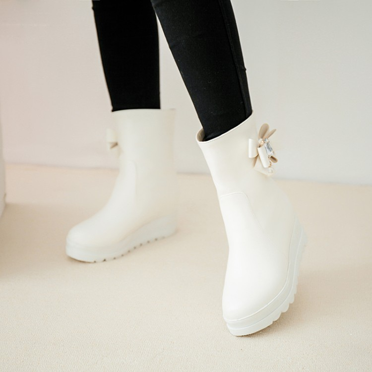 Big Size 9 10 11 12 boots women shoes ankle boots for women ladies boots Bow pearl diamond pendantBig Size 9 10 11 12 boots women shoes ankle boots for women ladies boots Bow pearl diamond pendant