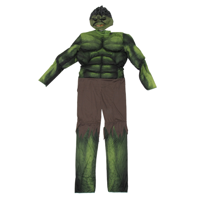 On Sale Adult Men's Muscle Hulk Halloween Costume Marvel Avengers Superhero Fantasy Movie Fancy Dress Cosplay Clothing 2