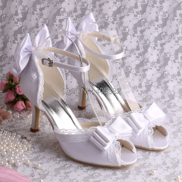 (20 Colors) Hot Style Nice Summer Sandals Shoes 2014 White Satin Wedding Bride Sandals with Butterfly