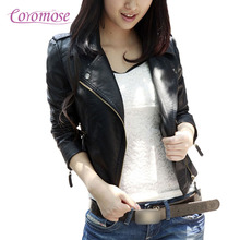 Coromose 2017 New Fashion Women Wine Red Faux Leather Jackets Lady Bomber Motorcycle Cool Outerwear Coat Hot Sale