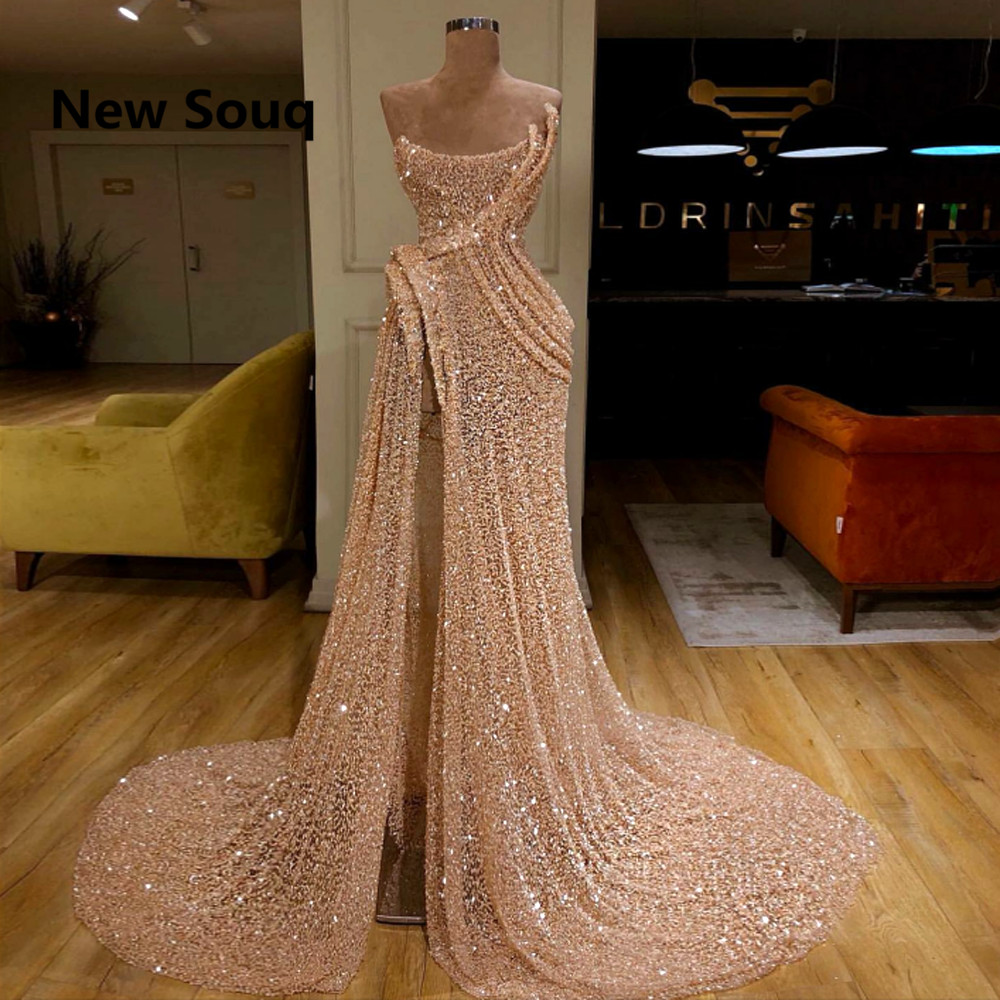 Sexy High Split Sweep Train Long Mermaid   Prom     Dresses   2019 Sexy   Prom     Dress   Vestido de Noche Formal Evening Gowns