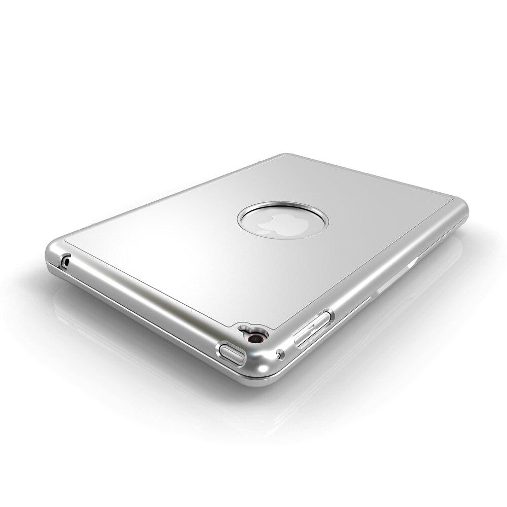 תאורה אחורית Case מקלדת Bluetooth אלחוטית עבור iPad Mini 4 עם תאורה אחורית LED צבעוני (5)