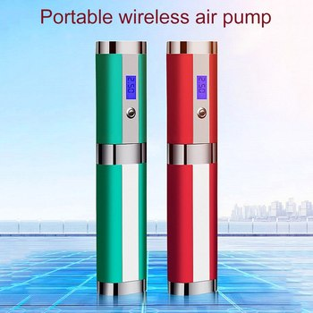 Universal Car Air Pump 120W High Power Wireless Charging Tire Pump Portable Digital Intelligent Air Pump 4LED Lamp Column Pump